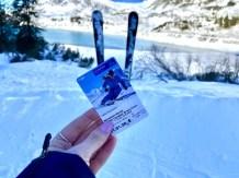 Al skiënd kom je bij het stuwmeer uit. Foto: Maaike de Vries