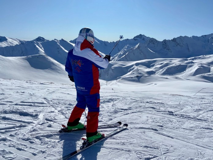 We skiën de smokkelaarsroute. Foto: Maaike de Vries