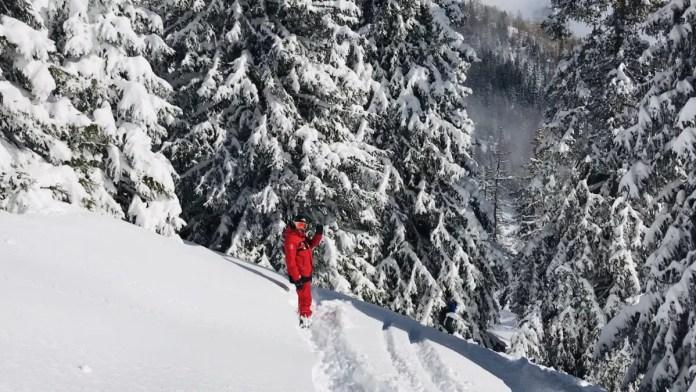 Wil je off-piste skiën en ken je het gebied niet? Zorg altijd voor een goede gids! Foto: Pauline van der Waal
