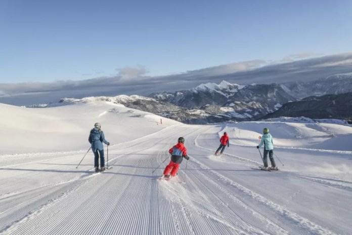 Skiën op het plateau van Steinplatte-Waidring. © Defrancesco