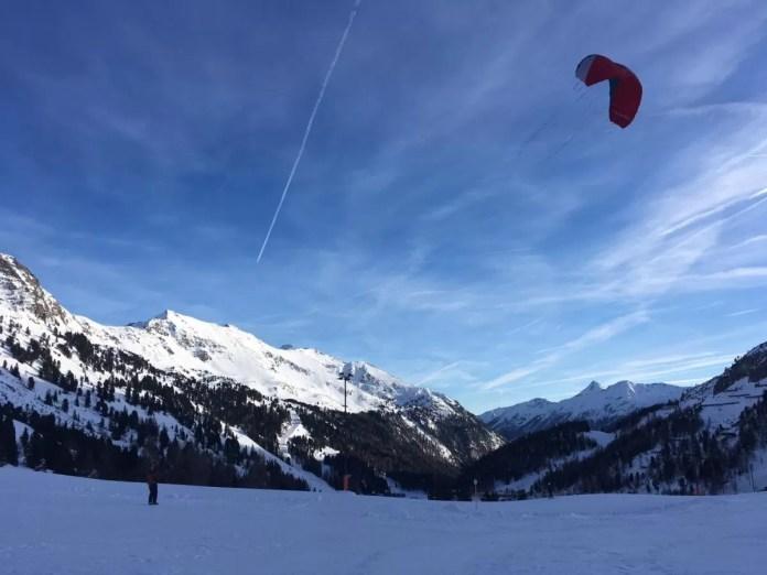 Snowkiten Obertauern. Fotocredits: Peter de Vries