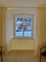 Uitzicht vanuit de kloosterkamer Foto: Maaike de Vries