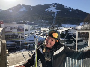 Dominique in de SkiWelt in Oostenrijk.