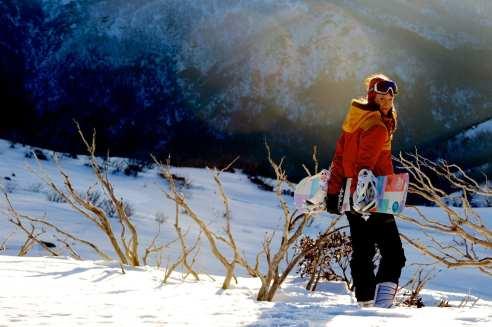 Falls Creek snowboarder by Chris Hocking