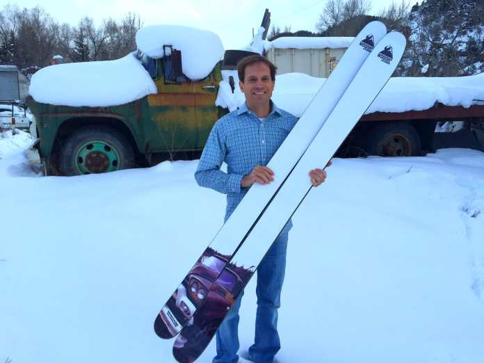 Pete Wagner, his skis and the truck that inspired them