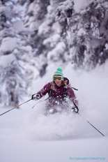 Crystal Wright in the powder