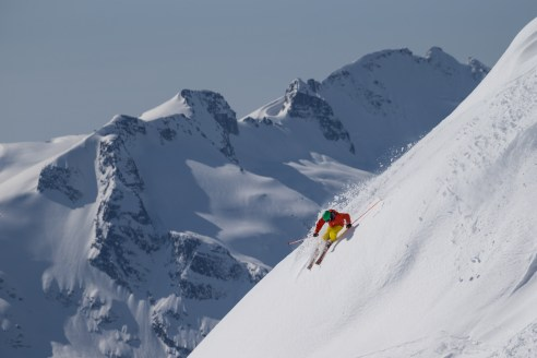 Spring skiing with Steve Mayer on Whistler Mountains Burnt Stew Basin