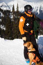 Digger and his Ski Patrol human
