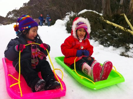 Mt Baw Baw_Sophie and Amy Zeng ready for a race copy