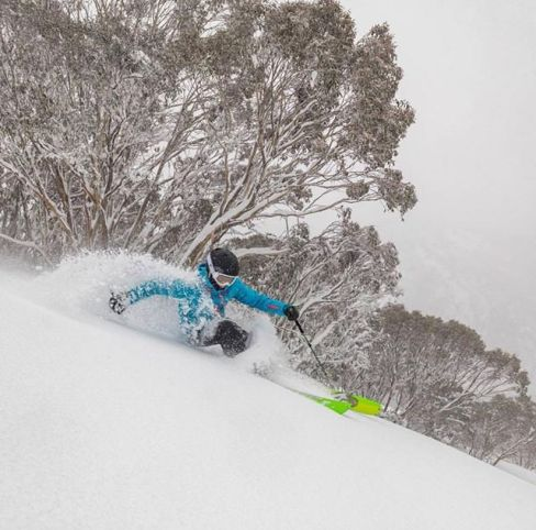 @katyacrema loving it sick at Hotham