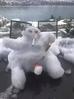 Archie Middleton's bogan snow man