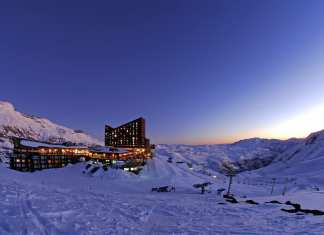 valle nevado sunset invierno