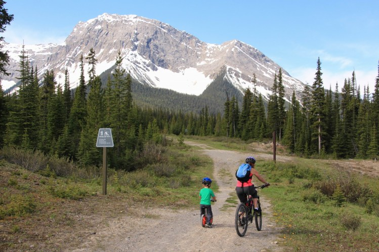 mountain biking in Kananaskis: Biking at Mt. Shark