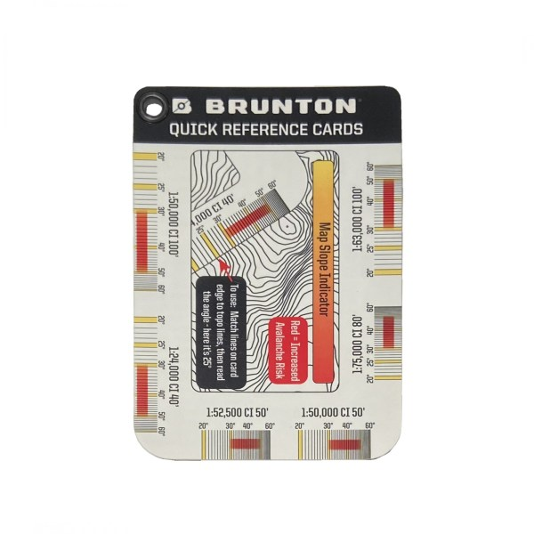 new outdoor gear 2021: product photo Brunton navigation reference cards
