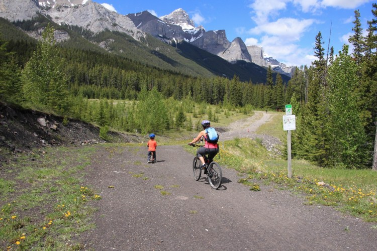mountain biking in Kananaskis: biking at Canmore Nordic Centre