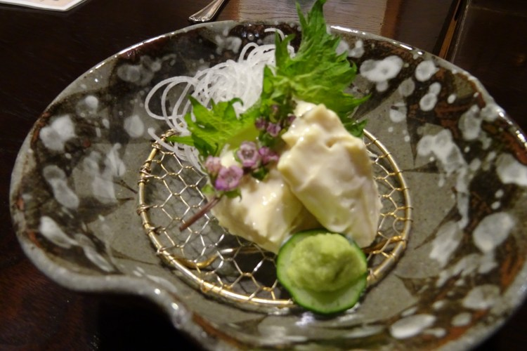 close up of Japanese tofu on a plate