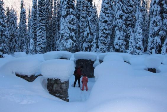 Exploring the historic Glacier House ruins at Rogers Pass