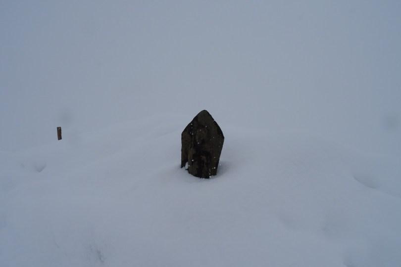 jizo in the snow, Happo Ridge Trail