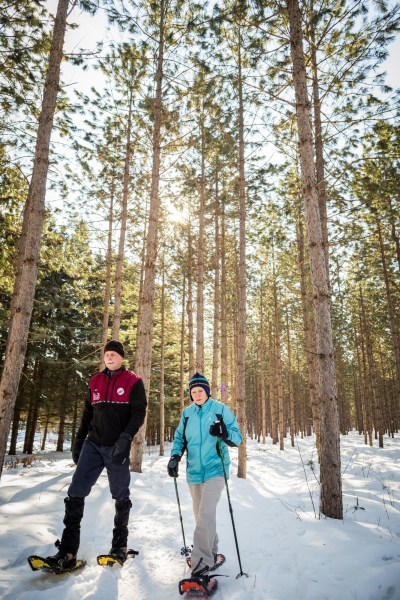 Nine Mile Forest, snowshoeing 07