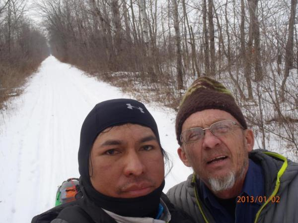 Tony Oveson with Marron on Tuscobia Trail during portion of the second 150.