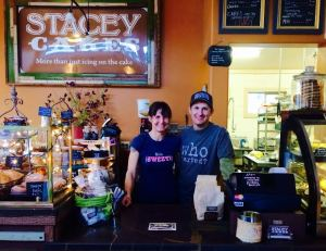 Gary and Stacey Kucy at Stacey's Cakes.