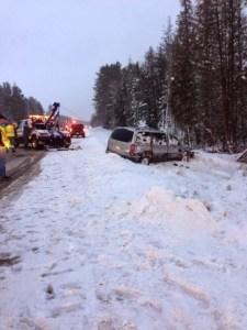 Tuscobia 2015 Jill Martindale car crash