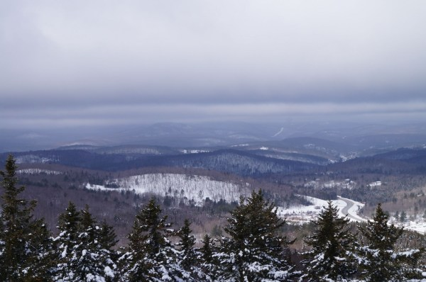 Western view, Mount Snow is off in the distance