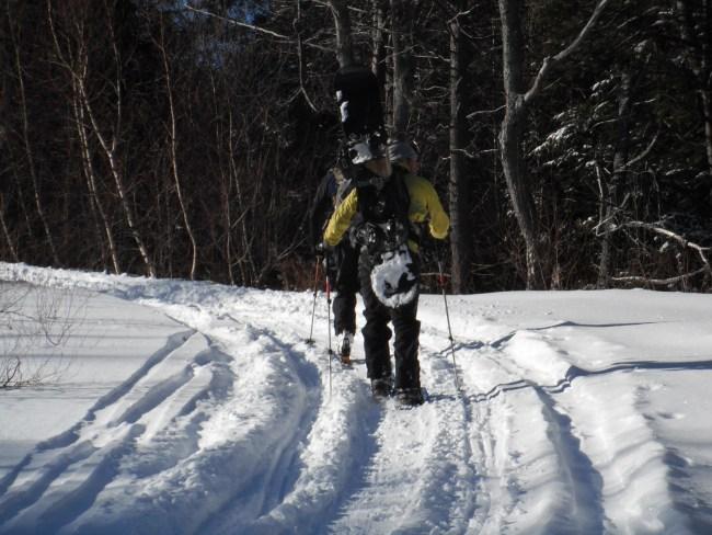 snowshoeing Mt Watatic near Boston