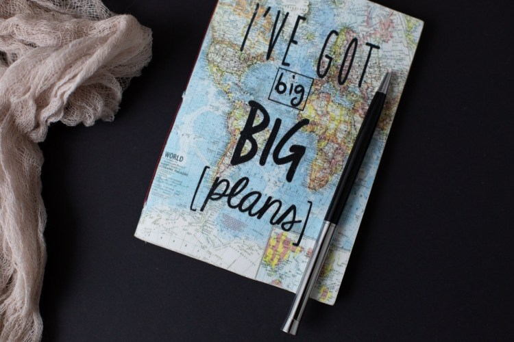 journal made out of a map