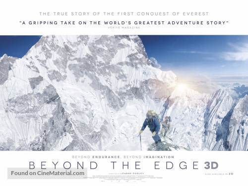 mt everest movie poster beyond the edge white snow