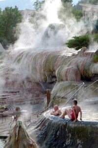"""The word """"pahgosa"""" comes from the Ute Indians, who used the springs throughout the 1800s. """"Pah"""" means water and """"gosa"""" means boiling."""