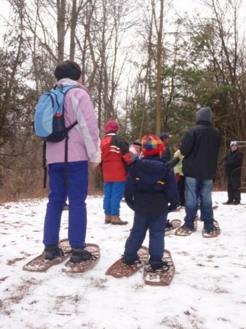 snowshoers in Albion Hills Ontario