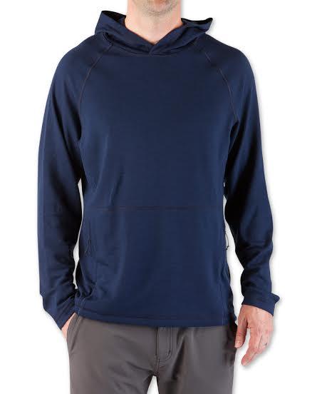 Stio's Basis 21 Merino wool hoodie.