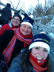 This hat survived the terrifying sled hill in Quebec City