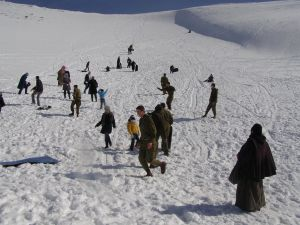 Children enjoying Mount Hermon