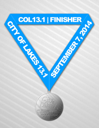 City of Lakes Medal 2014