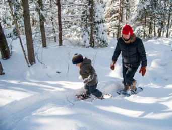 The author and her grandson snowshoeing. A vital part of her recovery. Photo Laura Rose