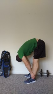 forward bend: stretches for snowshoeing