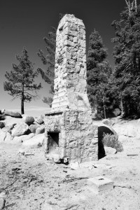 Hikers will encounter this rustic classic at Tahoe's aptly named Chimney Beach