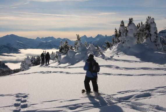 Snowshoeing at Sunshine Village