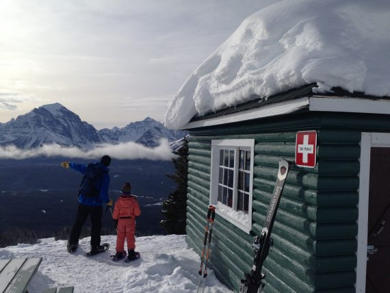 backcountry cabin at Lake Louise Ski Resort, AB