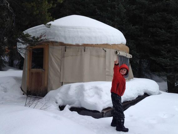 Yurt Camping at Mount Engadine Lodge