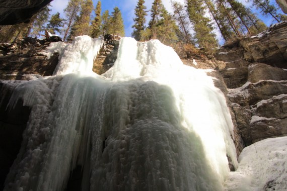 Ice Falls in Maligne Canyon