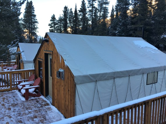 Glamping at Mount Engadine Lodge, Alberta