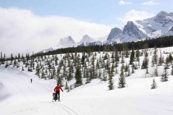 Skiing at the Canmore Nordic Centre
