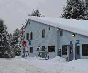 The lodge at Lapland Lake Nordic Center.
