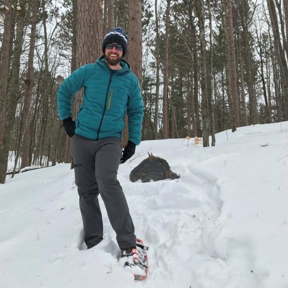 Paul posing on Wisconsin trail