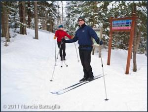 Snow trails on the Heron paths; main route for the race (photo courtesy Nancie Battaglia)