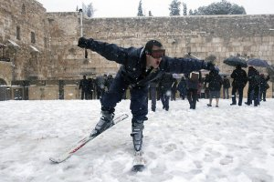 Rare snowstorm in Jerusalem, January 2013