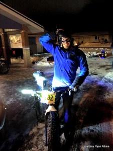 Ryan Atkins, winner of the Tuscobia Winter Ultra 150, 2015